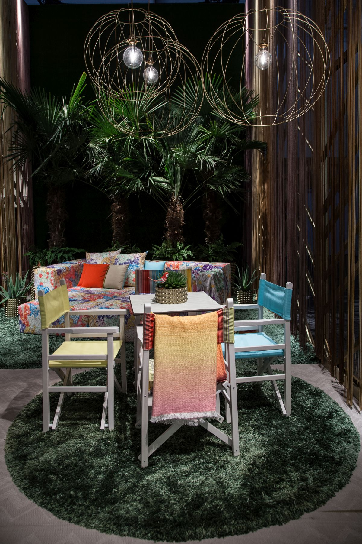 Colorful furniture for outdoor