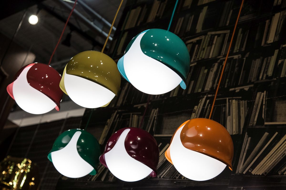 Colorful pendant lamps