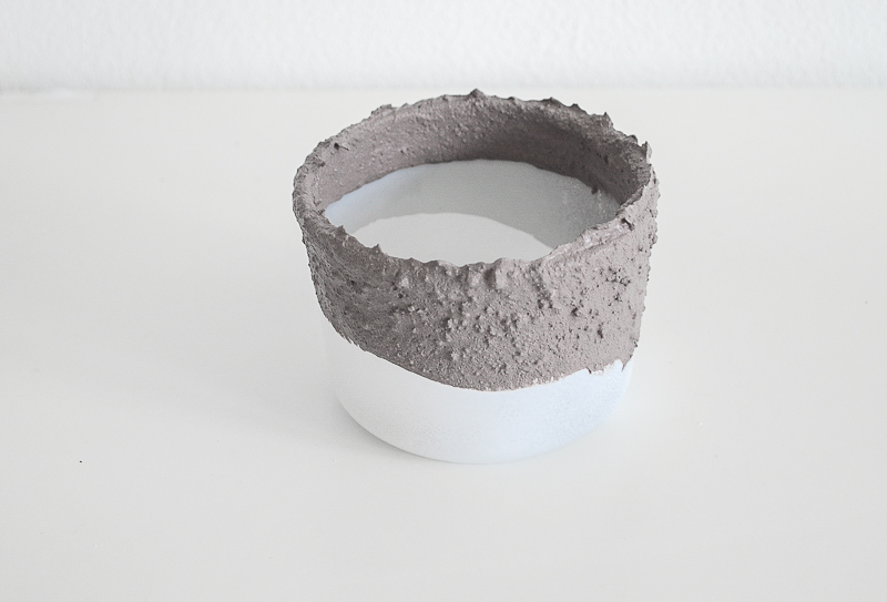 Concrete planters - step by step 5