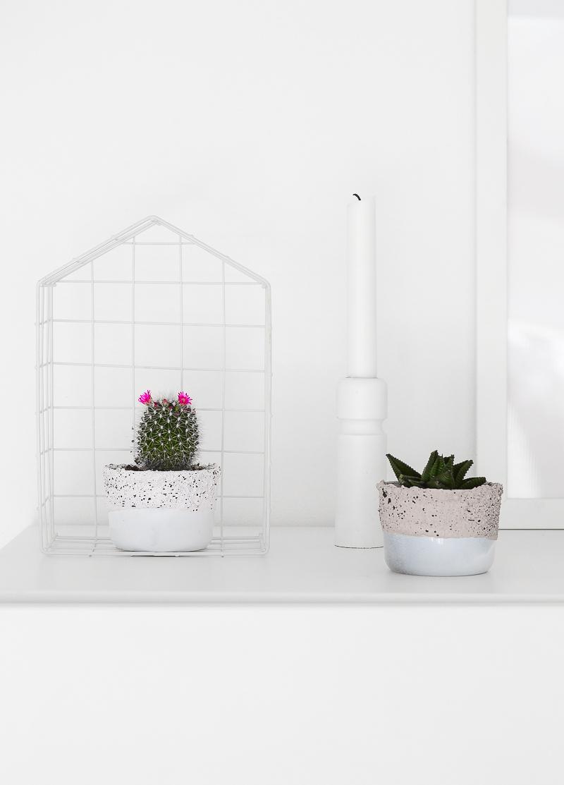 Concrete planters - step by step 9