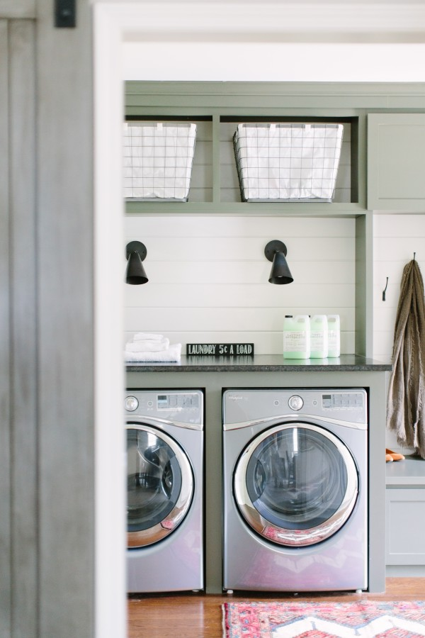 Cottage modern laundry room
