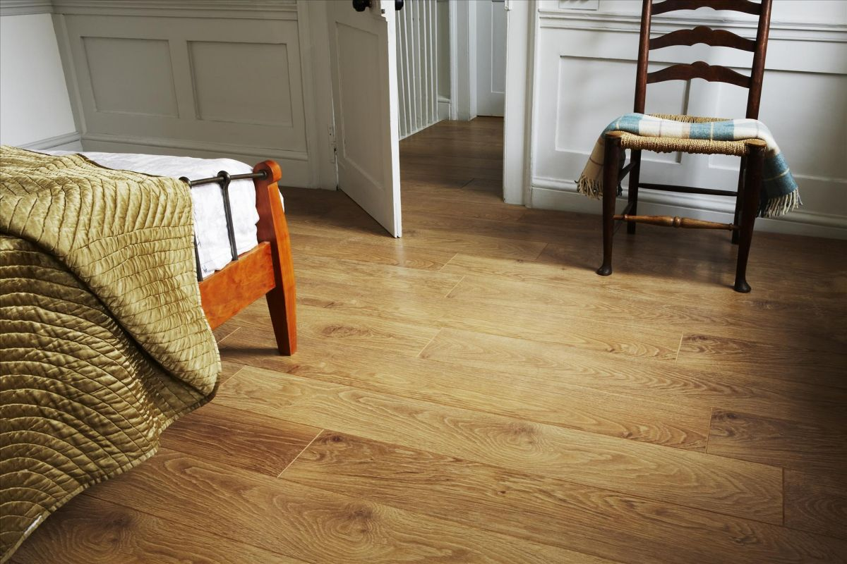 Laminate Or Wood Floors Cozy bedroom with laminate wood floor