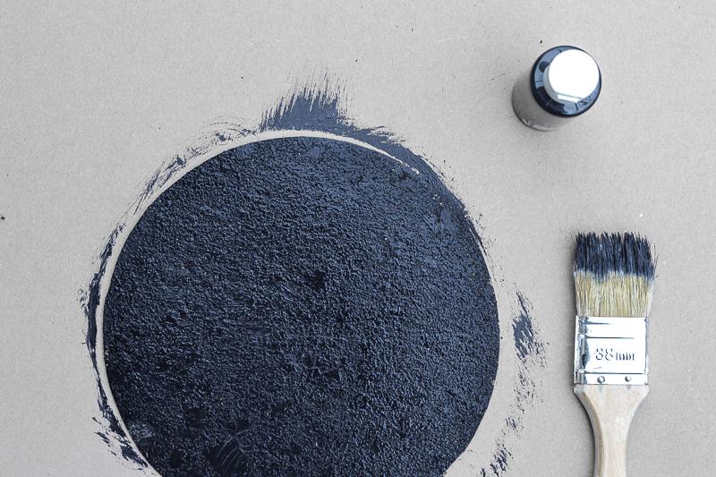 DIY Cosmic Trend Inspired Mousepad - brush paint
