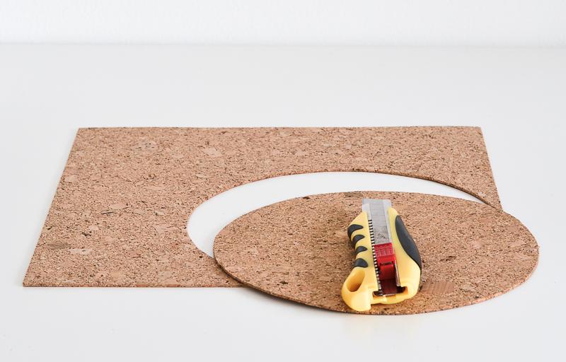 DIY Cosmic Trend Inspired Mousepad - cut