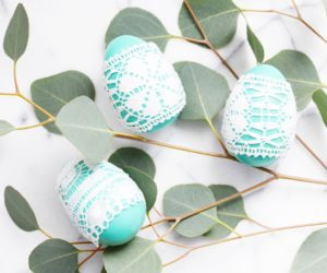 DIY Lace Easter Eggs