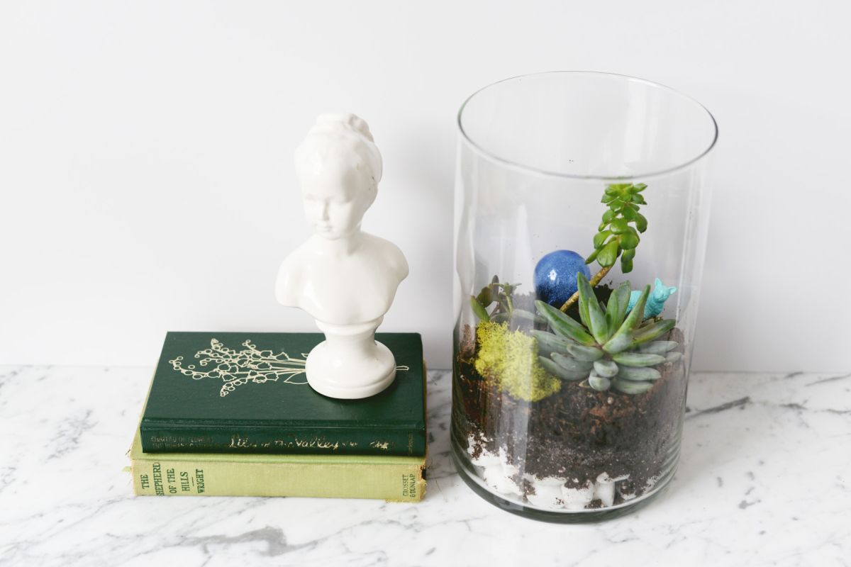 DIY Oversized Terrarium decor