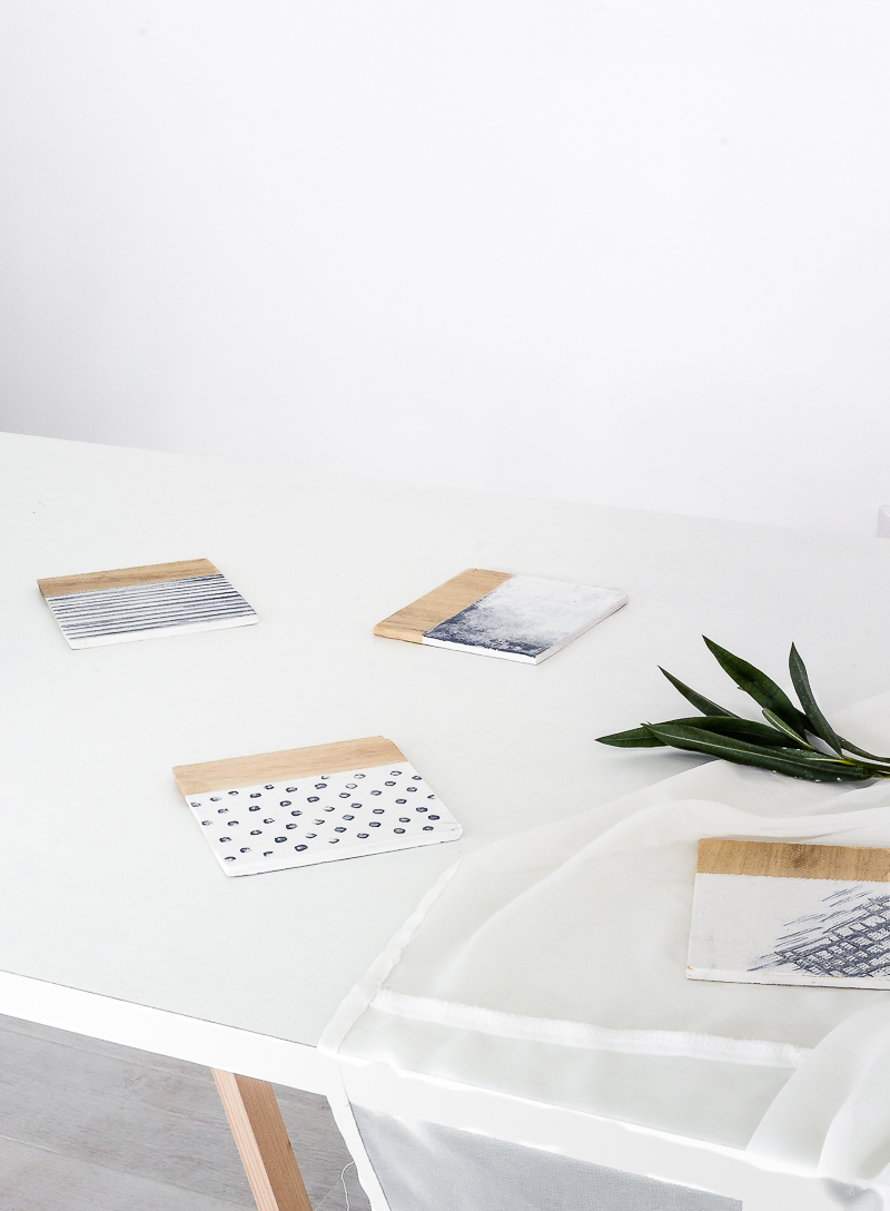 DIY Water patterns COASTERS
