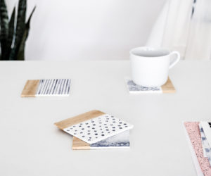 DIY Water Pattern Inspired Coasters