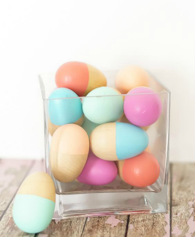 DIY color blocked eggs
