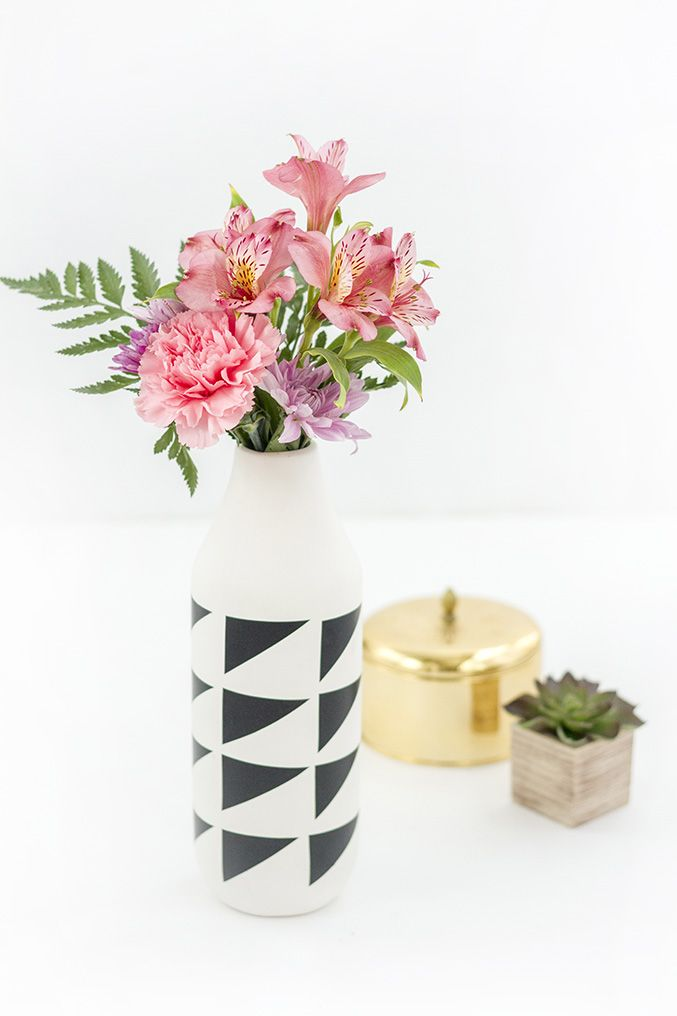 DIY contact paper vase
