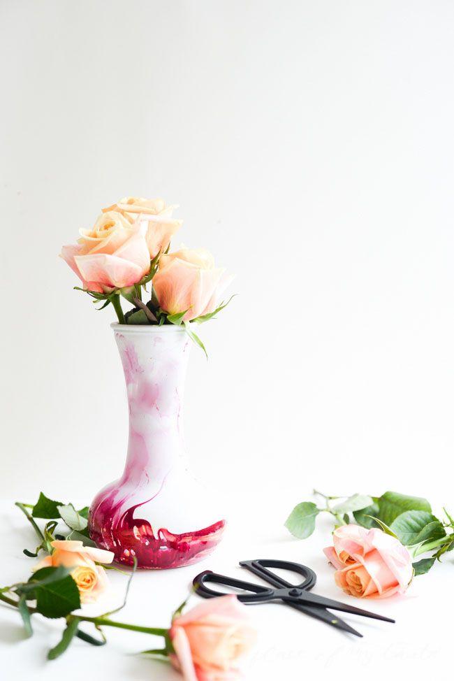 DIY marbled vase