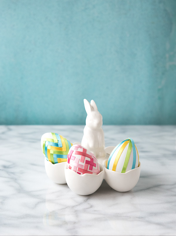 DIY ribbon eggs