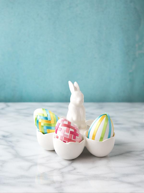 DIY ribbon eggs