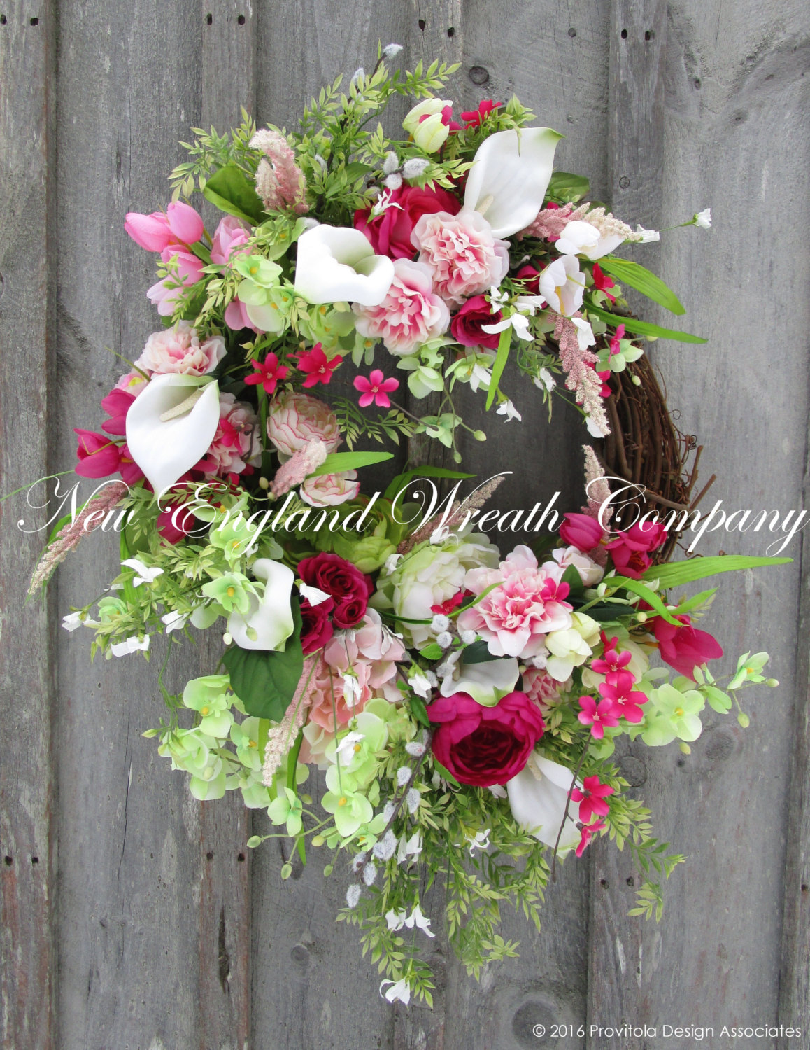 Easter Wreath- Spring Floral Wreath