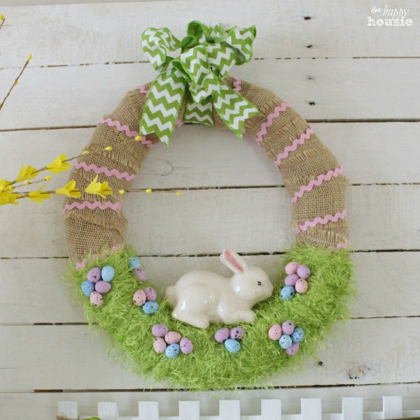 Easter bunny wreath design