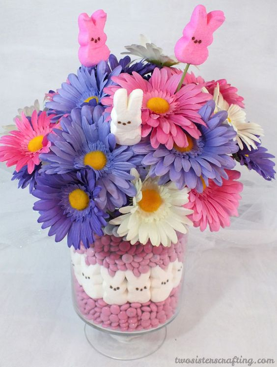 Easter candy bouquet centerpiece