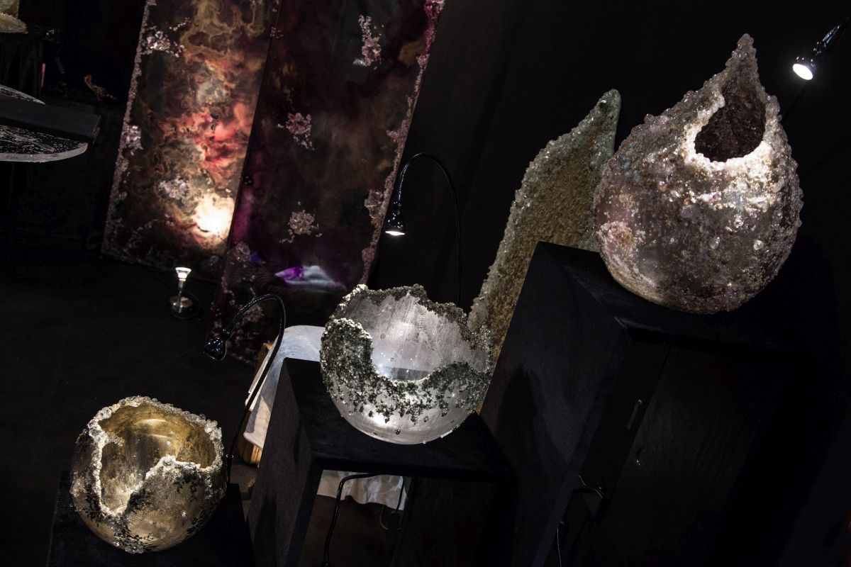 Enrica Giovine Vases from semi-precious stones