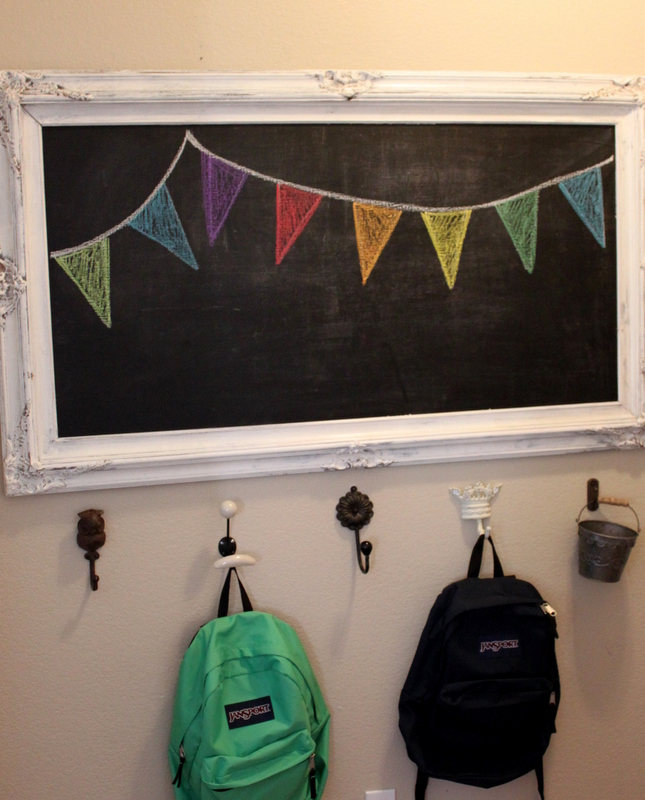Entryway framed chalkboard