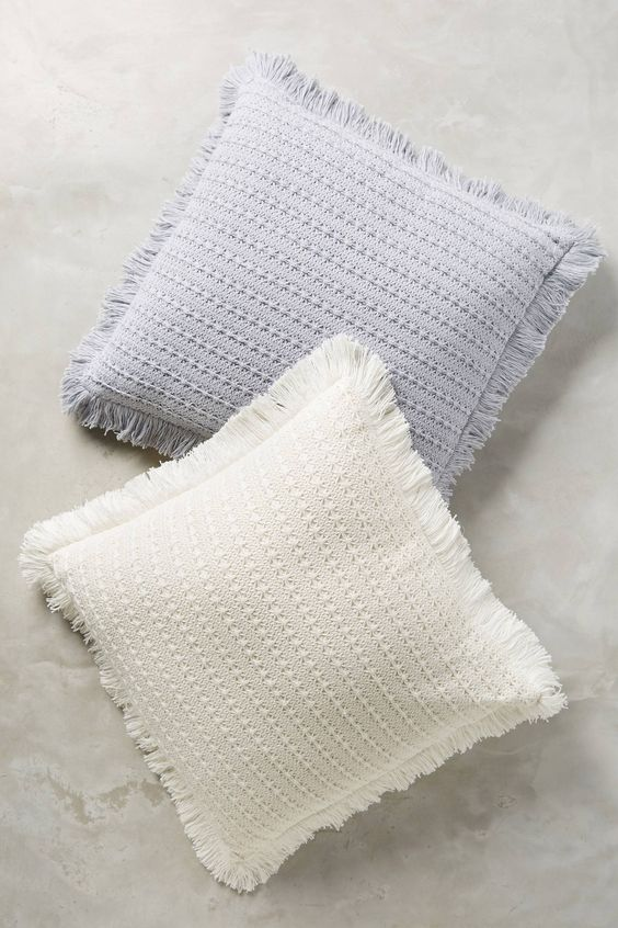 Eyelet stripe throw pillow