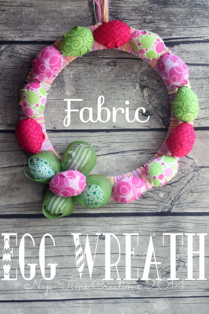 Fabric Easter Egg Wreath