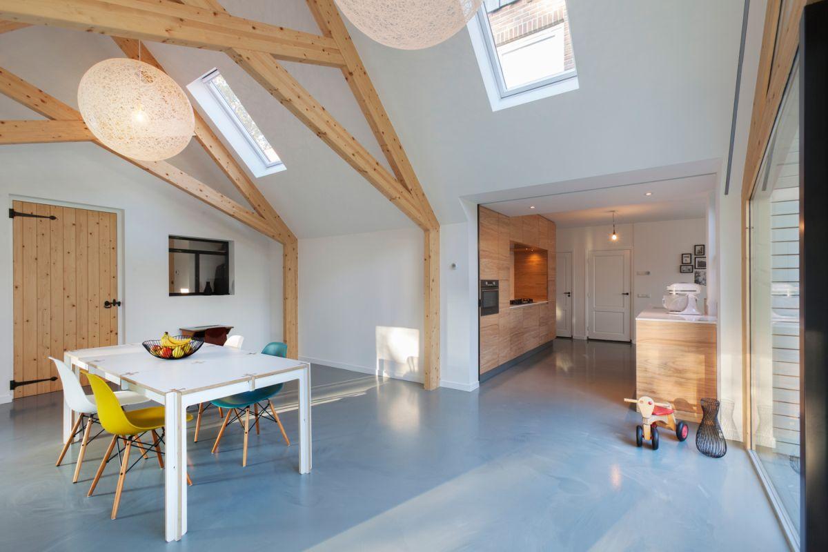 Farmhouse renovation by Bureau Fraai barn skylights