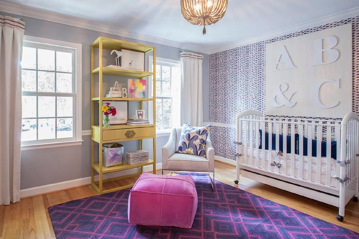 Fashionable nursery room