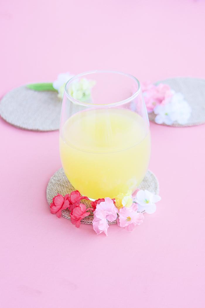 Floral drink coasters