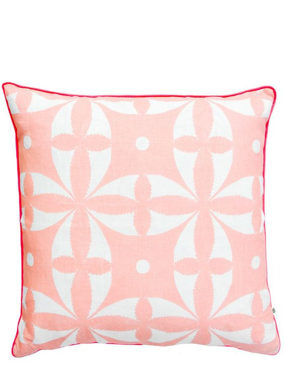 Floral geo throw pillow