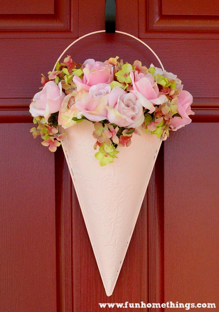 Floral hanging on front door