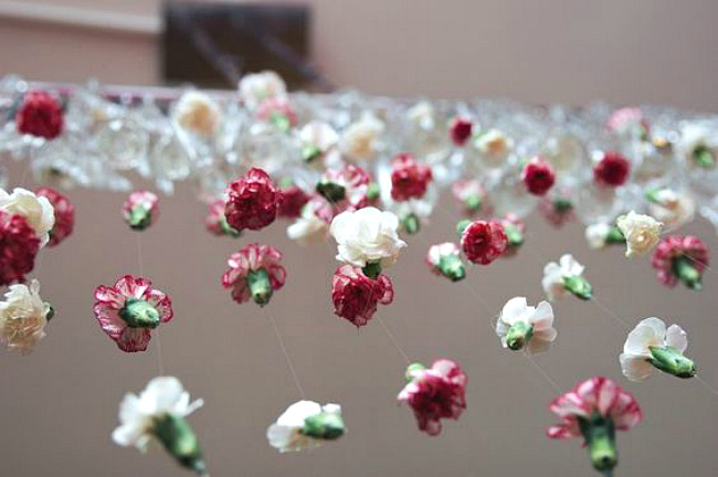 Floral lighting hanging