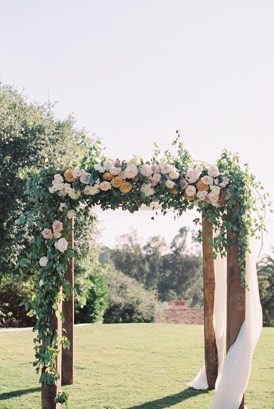 Floral wedding pergola