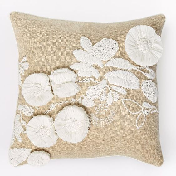 Flower fluff throw pillow