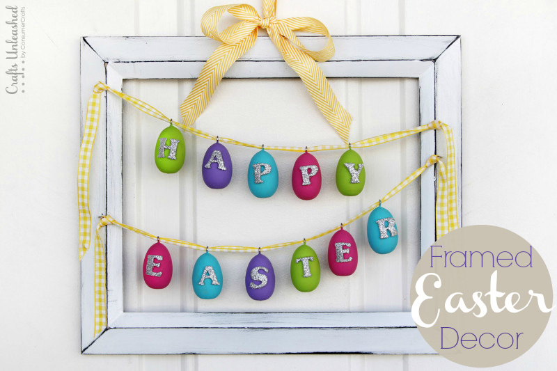 Framed Happy Easter Decoration