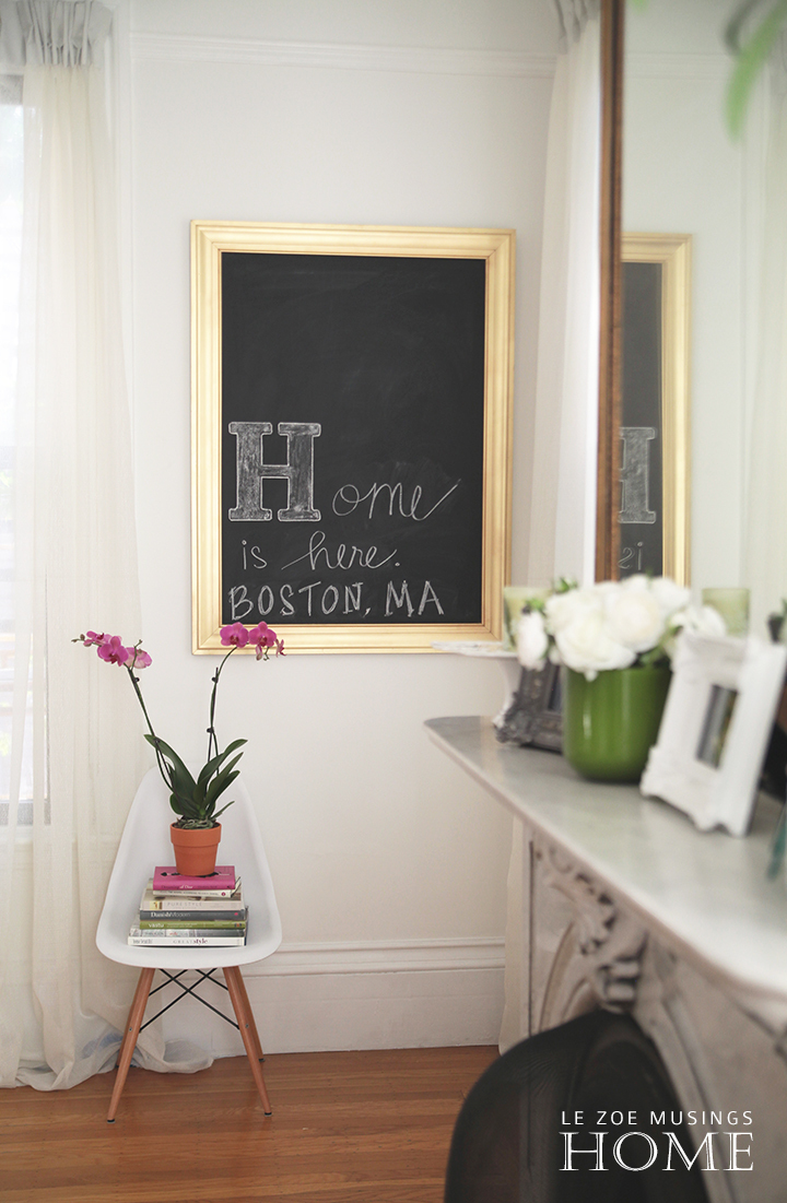 Framed chalkboard design