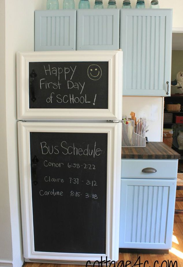 Fridge framed chalkboard