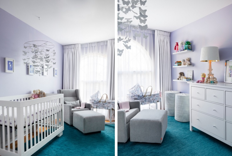 Funky clean nursery room