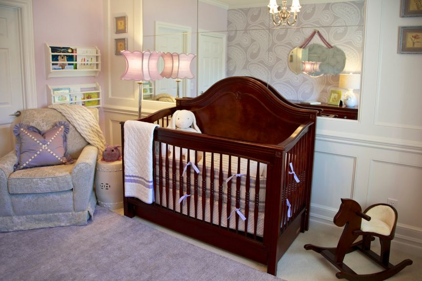 Glam lavender nursery room