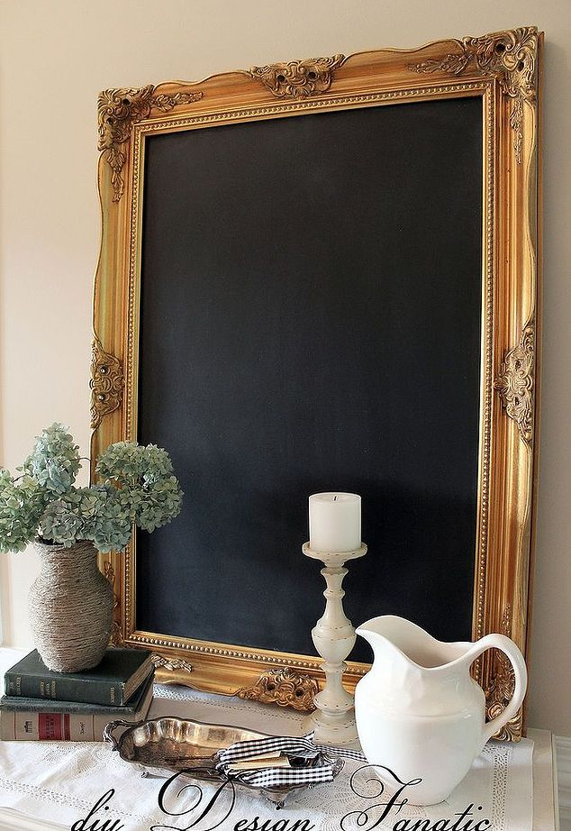 Gold frame and chalkboard