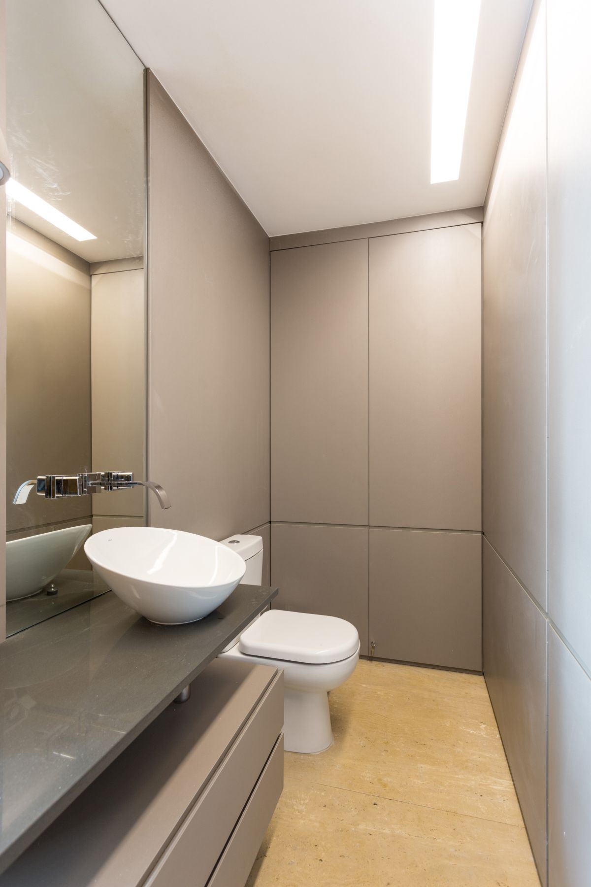 Grey Bathroom Enseada House in Brazil bathroom interior