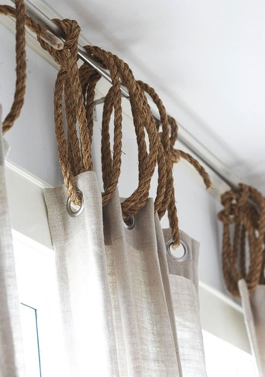 Hanging curtain with rope