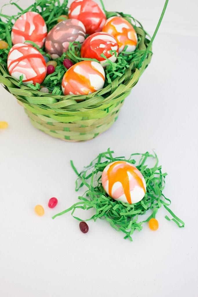 Kool aid dyed eggs