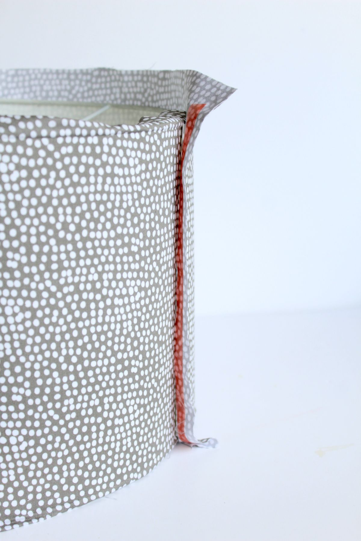 Lampshade formed from fabric
