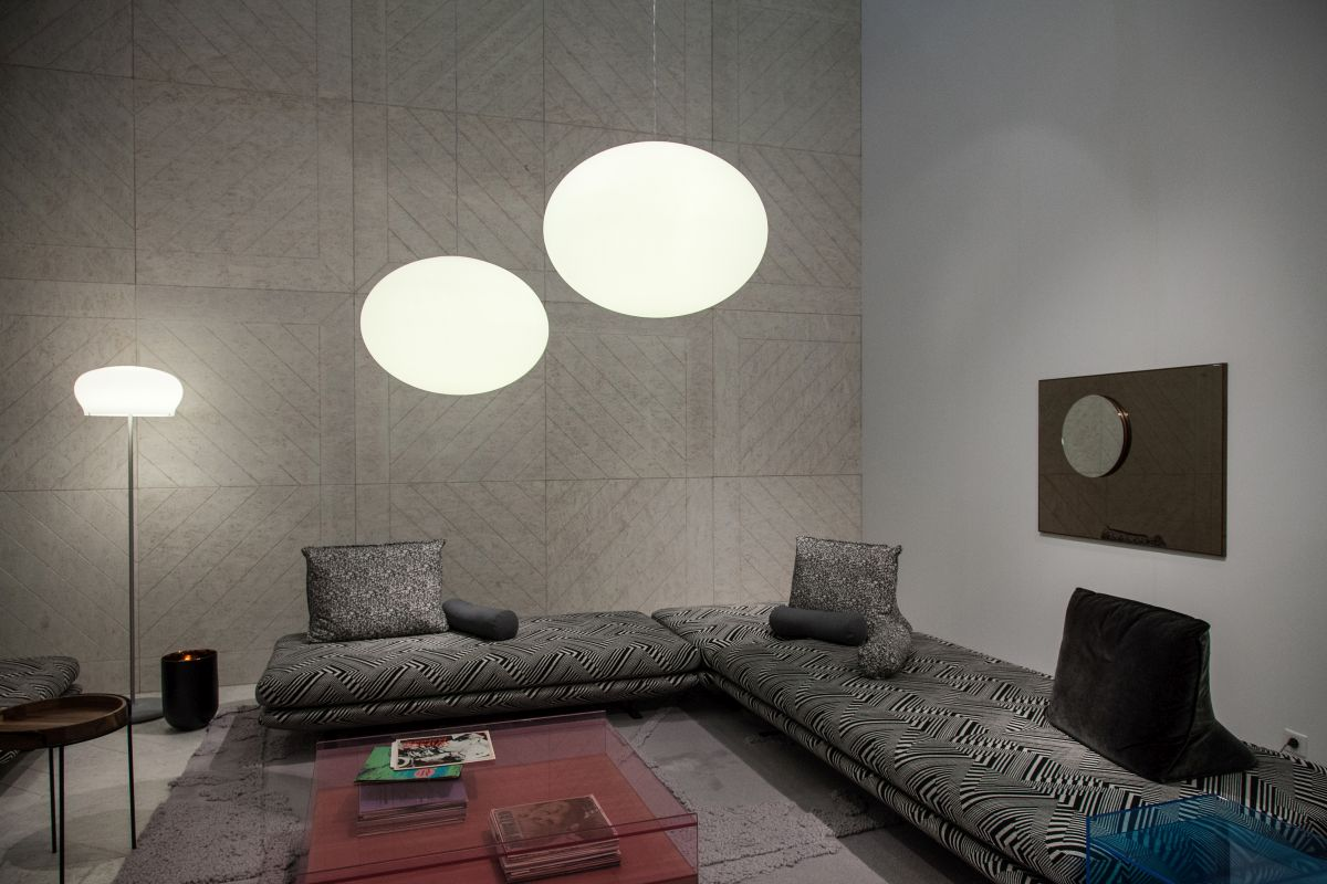 Large grey l shaped sofa