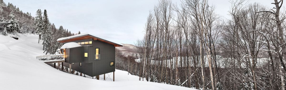 Modern Ski Chalet In Quebec Serves As The Ideal Family Retreat