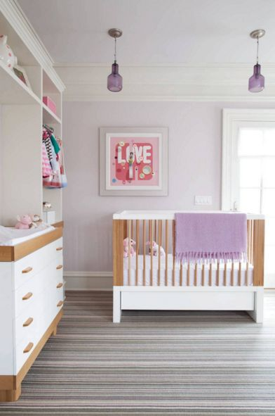 Lavender lighting and blanket