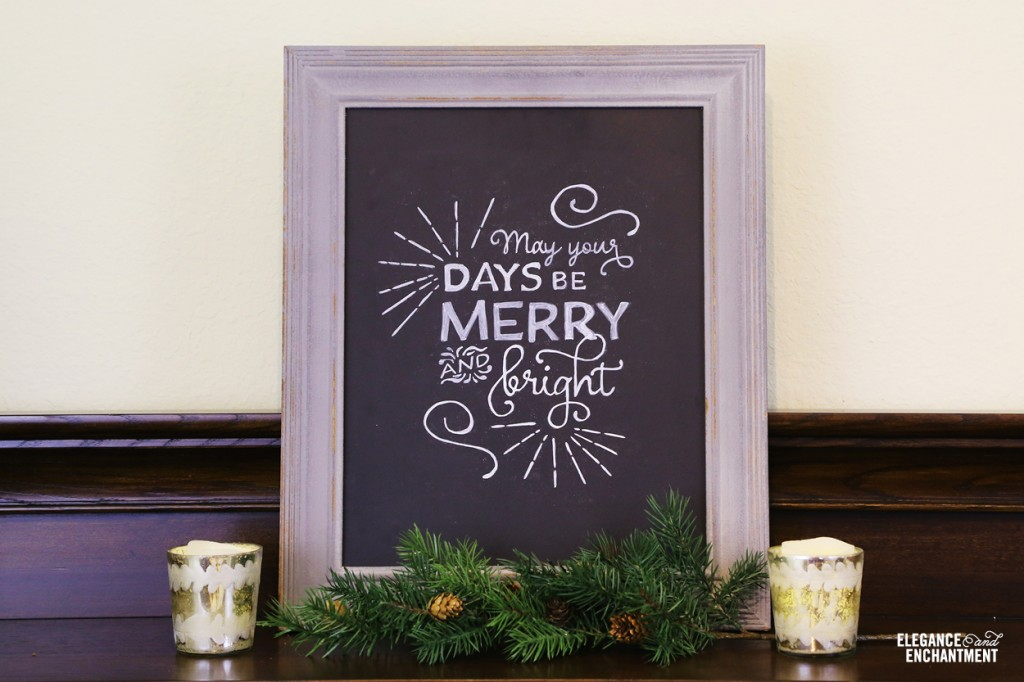 Merry Christmas Chalkboard Wall