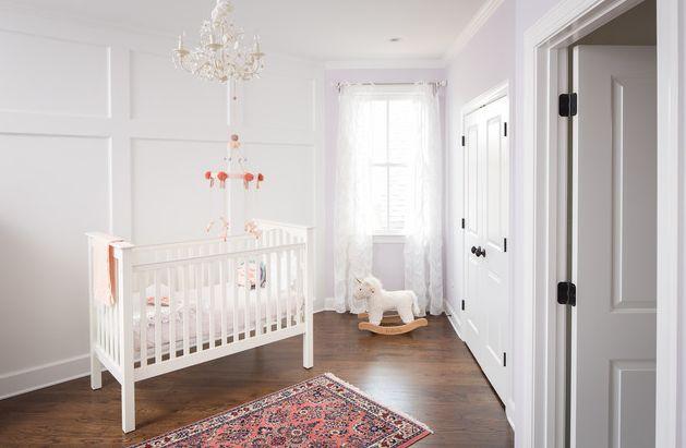 Minimalist lavender nursery room