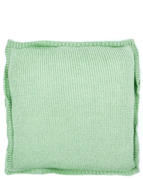 Mint knit throw pillow