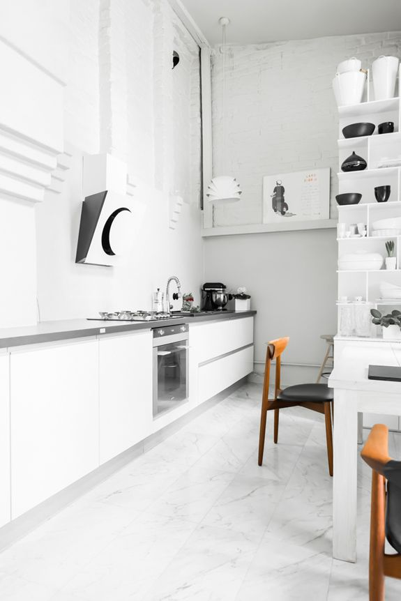 Modern Contemporary kitchen design with a cool hood
