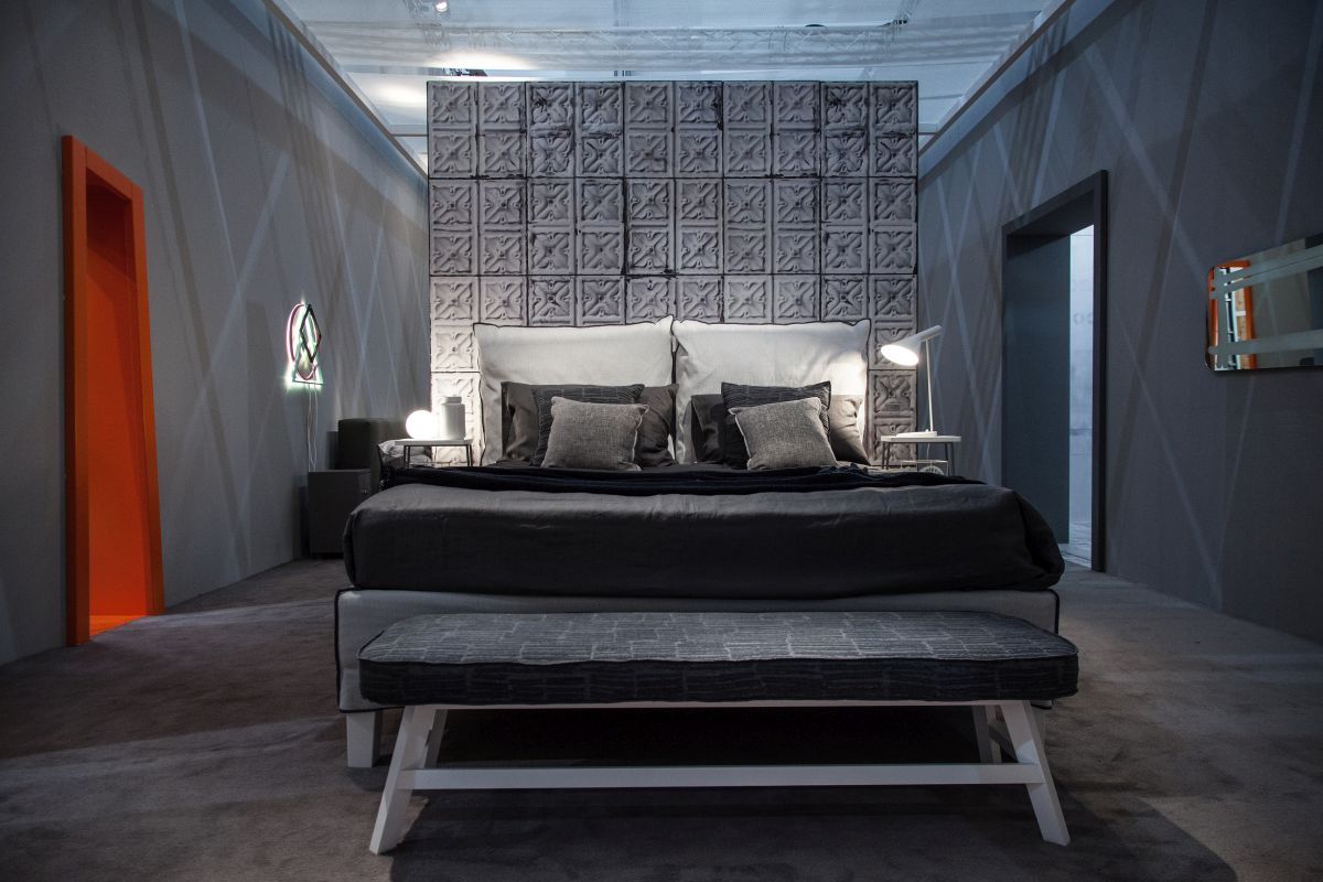 Modern bedroom in grey